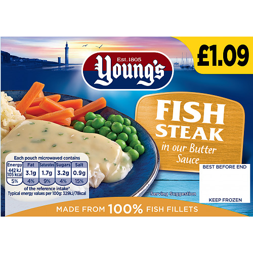 Youngs Fish Steak In Butter Sauce PM £1.09
