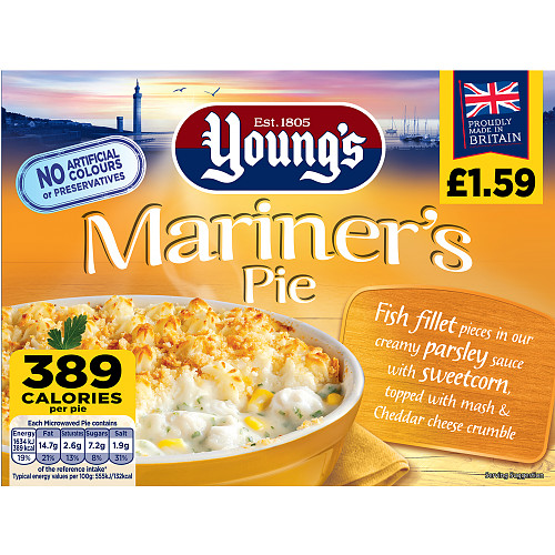 Youngs Mariners Pie PM £1.59