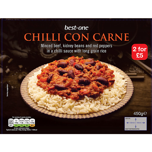 Bestone Chilli Con Carne & Rice 2For £5