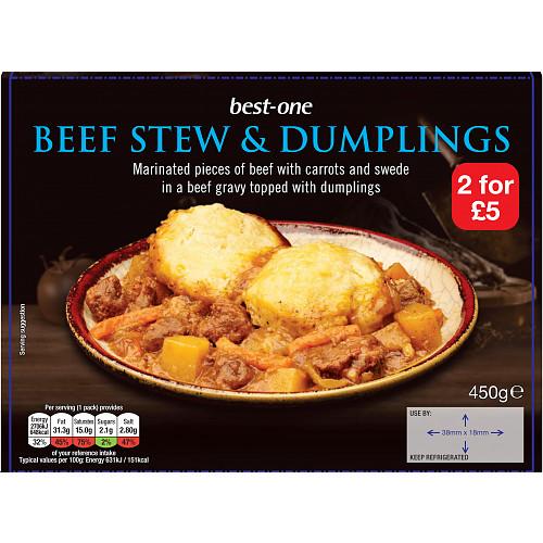 Bestone Beef Stew & Dumplings PM 2For £5