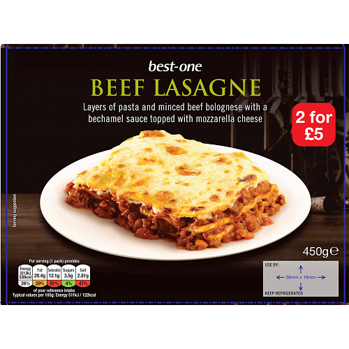 Bestone Beef Lasagne PM 2For £5