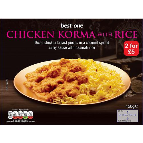 Bestone Chicken Korma & Rice PM 2For £5