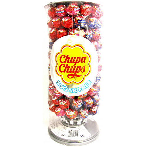 Chupa Chups Sugar Free Slimline Wheel 10 Units 110g