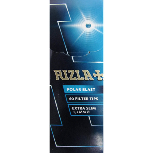 Rizla Polar Blast Extra Slim Tips 60s