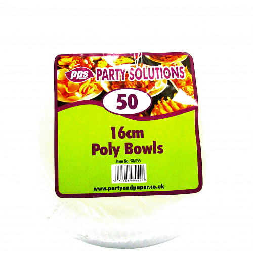 White Poly Bowl 16cm