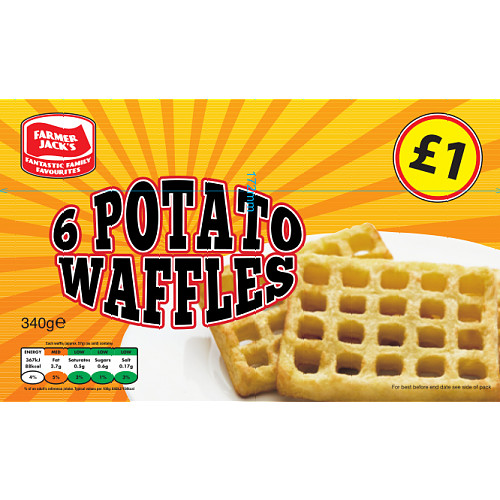 Farmer Jacks Potato Waffles PM £1