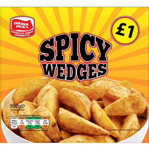 Farmer Jacks Spicy Wedges PM £1