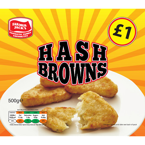 Farmer Jacks Hash Browns PM £1
