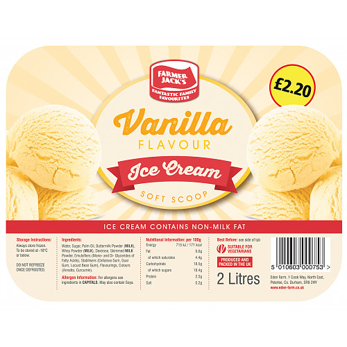 Farmer Jacks Vanilla Ice Cream