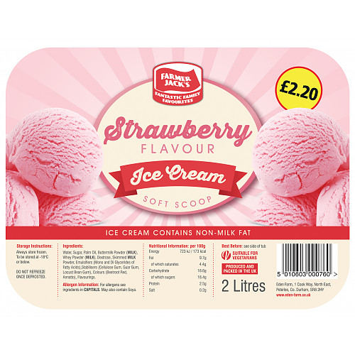 Farmer Jacks Strawberry Icecream