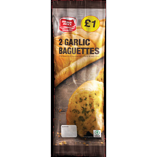 Farmer Jacks Garlic Baguettes PM £1