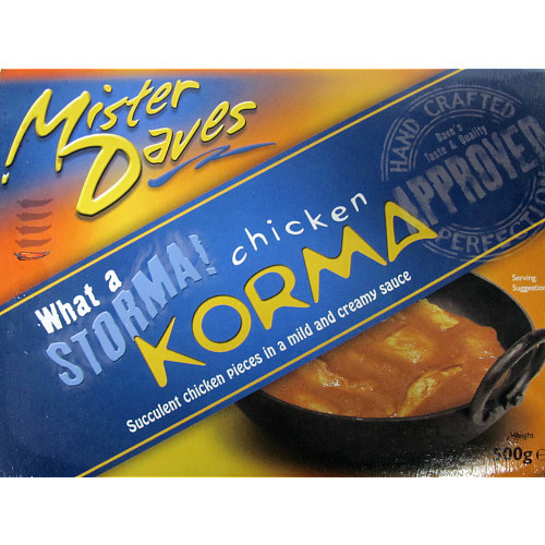 Mr Daves Chicken Korma