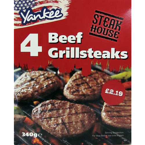 Yankee Steakhouse Beef Grillsteaks PM £2.19