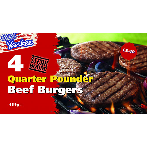 Yankee 4 Steakhouse Quarterpounder Burgers PM 239
