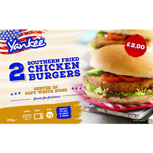 Yankee Southernfried Chicken Burger 2s PM £2
