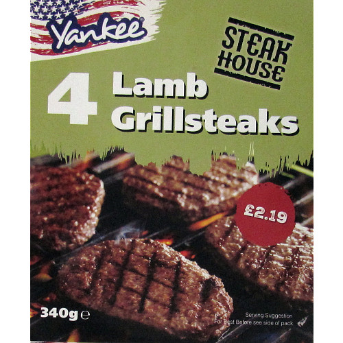 Yankee Steakhouse Lamb Grillsteaks PM £2.19