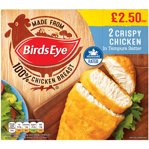 Birds Eye 2 Crispy Chicken in Tempura Batter 170g