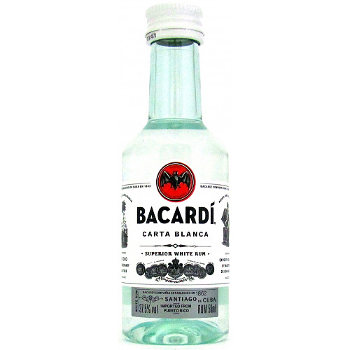 Bacardi Carta Blanca Superior White Rum 50ml
