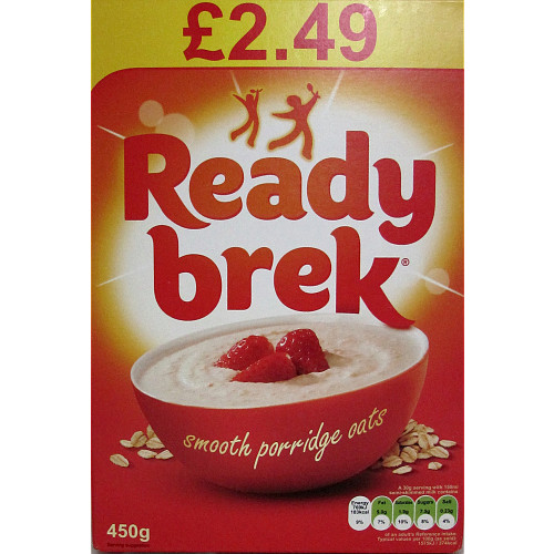 Ready Brek Smooth Porridge Original Oats Case 6 x 450g PMP £2.49