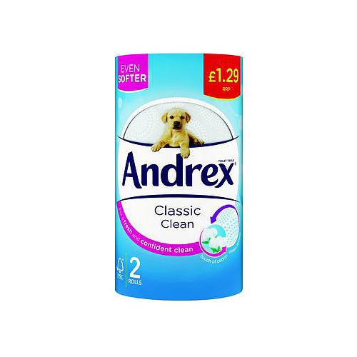 Andrex Classic Clean 2 Rolls £1.29