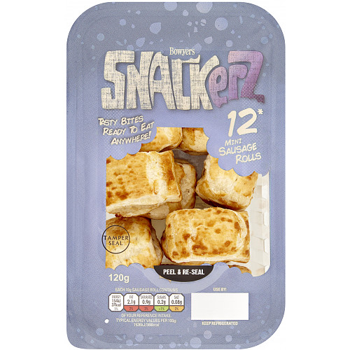 Bowyers Snackerz 12 Mini Sausage Rolls 120g