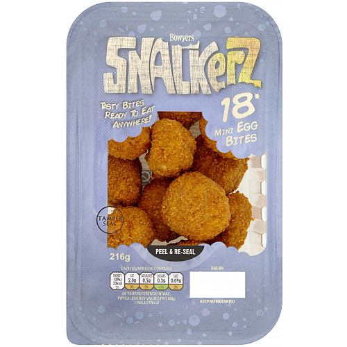 Bowyers Snackerz 18 Mini Egg Bites 216g