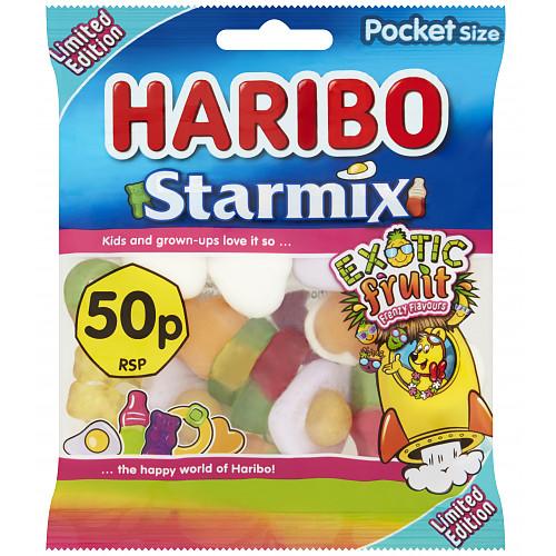 HARIBO Frenzy Starmix Exotic Fruit Bag 70g 50p PM