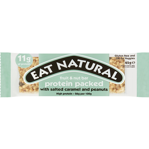 Eat Natural Fruit & Nut Bar Protein Packed with Salted Caramel and Peanuts 45g