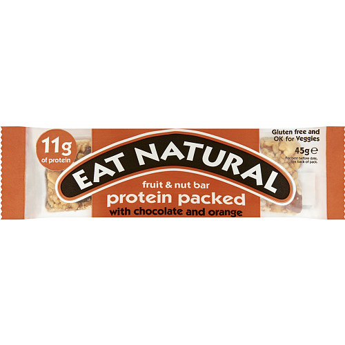 Eat Natural Fruit & Nut Bar Protein Packed with Chocolate and Orange 45g
