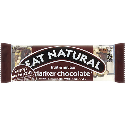 Eat Natural Fruit & Nut Bar Darker Chocolate with Almonds and Apricots 45g