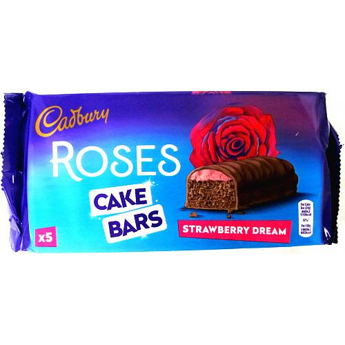Cadbury Roses Strawberry Dream Cake Bars x 5