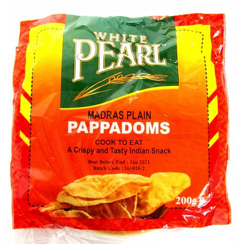White Pearl Plain Pappadoms 10s