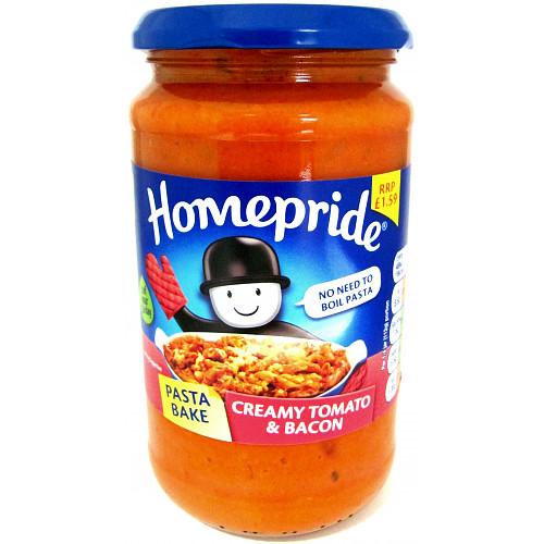 Homepride Pasta Bake Creamy Tomato & Bacon 450g