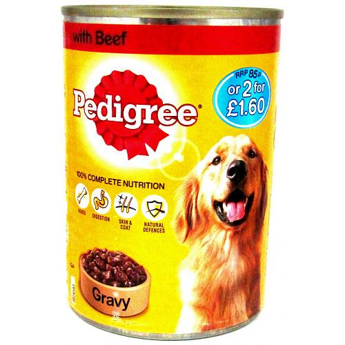 Pedigree Chunks In Gravy Beef PM 85p