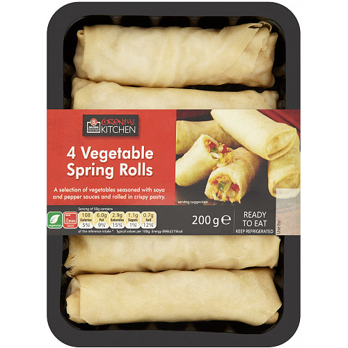 Gazebo Cuisine Oriental Kitchen 4 Vegetable Spring Rolls 200g