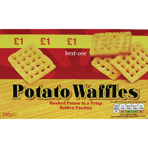 Bestone 6 Potato Waffles PM £1