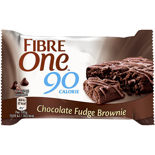 Fibre One 90 Calorie Chocolate Fudge Brownies 12x24g