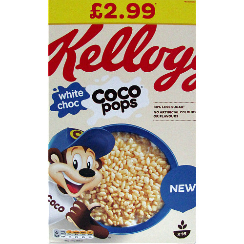 Kelloggs Coco Pops White Choc PM £2.99