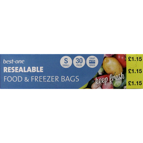 Best-in Fresh Snap Food/Freezer Bags Small x 30
