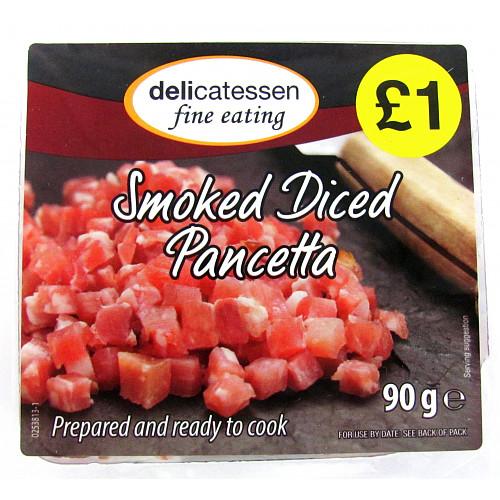 Delicatessen Fine Eating Smoked Diced Pancetta 90g