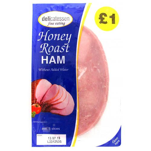 Delicatessen Fine Eating Honey Roast Ham 5 Slices 90g