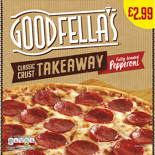 Goodfella's Takeaway Classic Crust Fully Loaded Pepperoni 410g