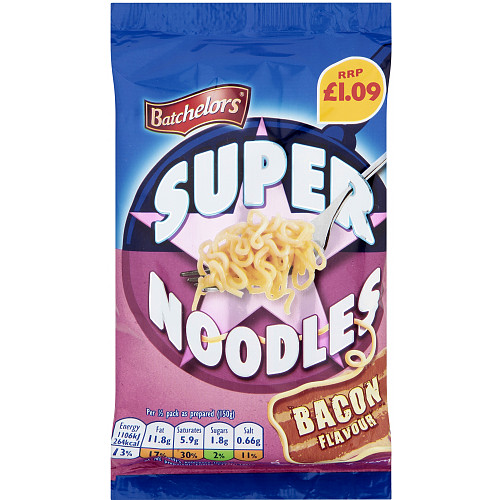 Batchelors Super Noodles Bacon PM £1.09
