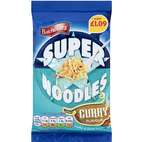 Batchelors Super Noodle Curry PM £1.09