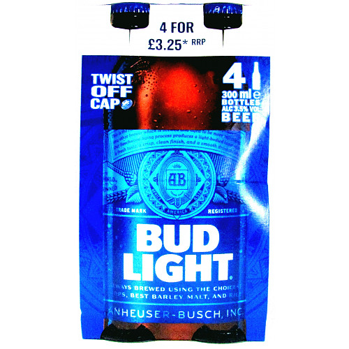 Bud Light 4 Pack PM £3.25