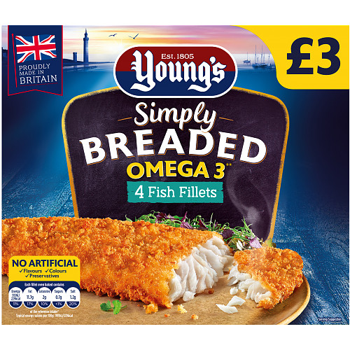Youngs Simply Breaded Omega 3 Fish Fillets PM £3