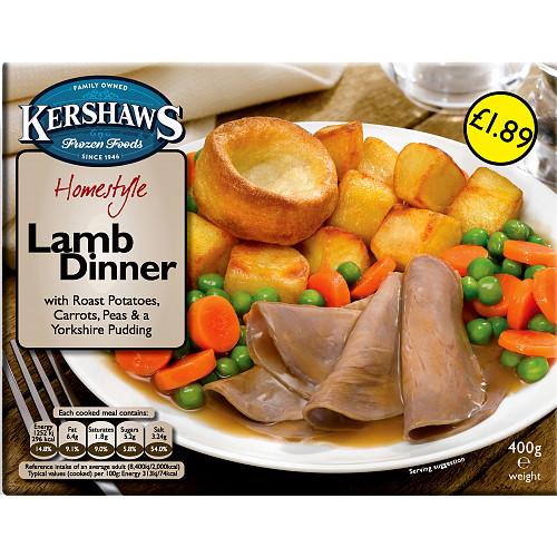 Kershaws Lamb Dinner PM £1.89