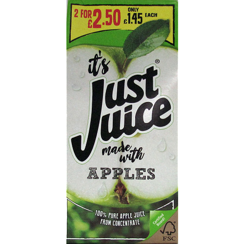 Just Juice Apple Slim PM £1.45 2 For £2.50