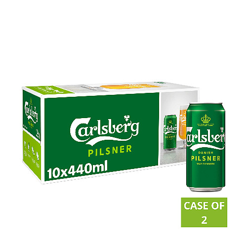 Carlsberg Danish Pilsner 10 x 440ml Cans