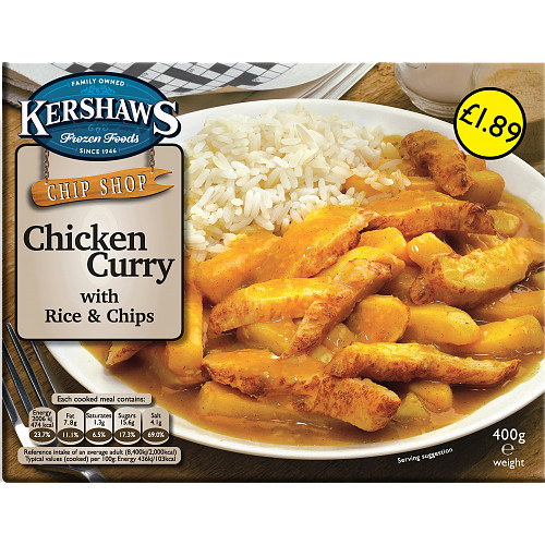 Kershaws Chicken Curry PM £1.89